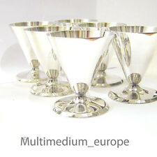 6 Art Deco Cocktail Becher Metall versilbert 30er Jahre 6 metal silver plated