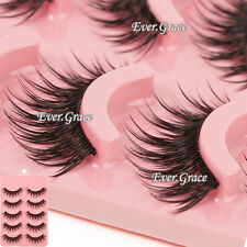 Makeup 5 Pairs Natural Long Fake Eye Lashes Handmade Thick False Eyelashes Black