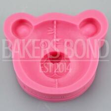 Happy Bear Face Silicone Mould Cute Round Animal Fondant Cupcake Cake Topper Ice