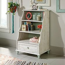 Sauder 419770 Eden Rue Accent Bookcase W/dwr Wpl White Plank Finish NEW