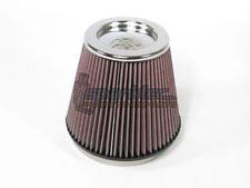 "K&N 6"" Round Tapered Universal Air Intake Cone Filter Chrome Top Car/Truck/SUV"