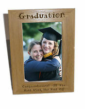 Graduation Wooden Photo Frame 4x6 - Personalise This Frame - Free Engraving