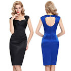 CHEAP WOMEN VINTAGE 40'S 50'S PIN UP PARTY LADIES WIGGLE PENCIL DRESS