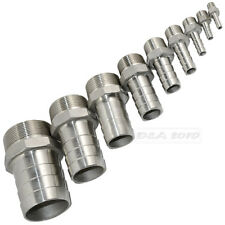 """1/4""""x 6mm Stainless steel 304 Male thread Pipe fitting barb Hose Tail Connector"""