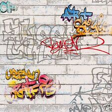 A.S. Creation, Papier peint, Graffiti Design Moderne, Aspect Mur, BN 93561-1