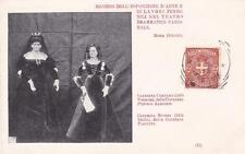 C4128) ROMA 1899 LAVORI FEMMINILI BAMBOLE CATERINA CORNARO E CATERINA SFORZA. VG