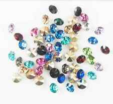 1000pcs 4mm Mix Crystal beads Point back Rhinestones Glass Chatons Strass