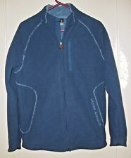 Men's UNDER ARMOUR Sherpa Lined Thick Fleece Full Zip Jacket Blue Size S