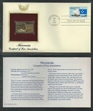 # 2506-2507 MICRONESIA/MARSHALL ISLANDS COMPACT '90 Gold Foil First Day Covers
