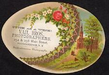 POUGHKEEPSIE NEW YORK*VAIL BROTHERS*PHOTOGRAPHERS*DIE CUT EGG SHAPE TRADE CARD 2