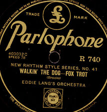 Eddie Lang 's Orch. WALKIN' The Dog/Luis Russell JERSEY Lightning 78rpm x2778