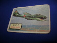 1952 TOPPS PLANES TRADING CARD #120 MIG-9 RUSSIAN FIGHTER