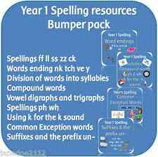 YEAR 1 SPELLING Bumper Pack: KS1 English 2014 primary teaching resources on CD