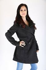 Only Damen  Winter Mantel Jacke Carla Wool Jacket Wool Coat dark grey  Größe  S