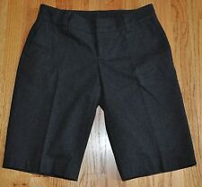BANANA REPUBLIC Dark Charcoal Gray Wool Blend Suit Suiting Shorts Size 6
