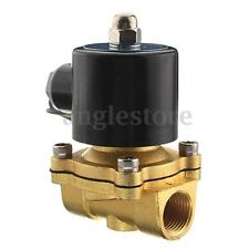 1/2'' NPT 12V DC Electric Brass Solenoid Water Air Valve Gas Diesel Fuel