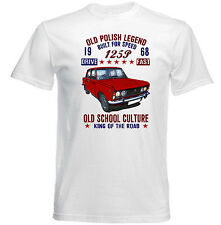 VINTAGE CAR POLISH FIAT 125P - NEW COTTON T-SHIRT