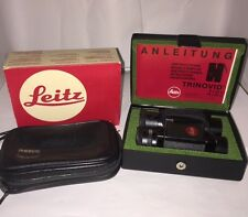 LEITZ (LEICA) TRINOVID 8x20C Binoculars Original Case + Leather Pouch NEAR MINT