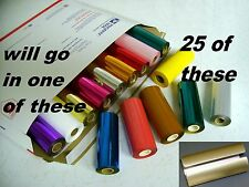 HOT STAMP MACHINE STAMPING FOIL KINGSLEY 25 PK -CHOOSE FROM 70 COLORS + CANISTER