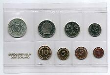 1Pf. bis 5 DM 1966 J Deutschland / BRD / Kurssatz  Auflage nur 1000 Stück PP