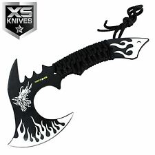 "11"" Hunt-Down WHITE DRAGON Axe Outdoor Hunting Camping SURVIVAL Steel Axe"