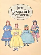Four Victorian Girls Sticker Paper Doll Book, 1996, Sue Shanahan Art