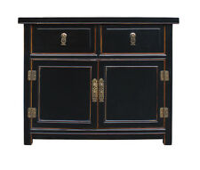 Black Lacquer Oriental Chinese Side Table Cabinet cs2337