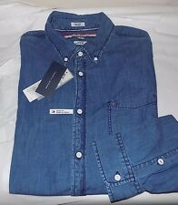 NWT MENS TOMMY HILFIGER L/S CASUAL SHIRT~DENIM~XL