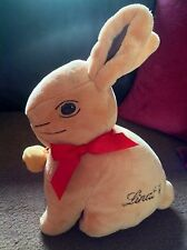 """Lindt 11"""" Soft Plush Gold Bunny Rabbit With Bell & Pouch For Chocolate Gift"""