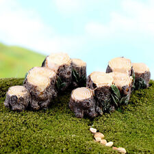 Miniature Resin Tree Stump Bridge Garden Fairy Ornament Flower Pot Plant Decor 2