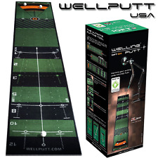 """NEW 2017"" WELLING PUTT 3 METRE PRO SPEED GOLF PUTTING MAT GOLF PRACTICE AID"