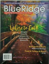 Blue Ridge Country Dec 2016 Where to Eat Mountains of the South FREE SHIPPING sb