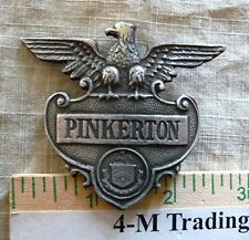 PINKERTON BADGE (COLLECTABLE BADGES) (BADGES OF THE  OLD WEST) FREE SHIPPING