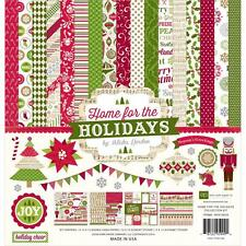 ECHO PARK PAPER CO HOME FOR THE HOLIDAYS CHRISTMAS SCRAPBOOK KIT PAPERS STICKERS