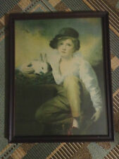 Vintage Boy And Rabbit Picture By Henry Raeburn Inglis 1814