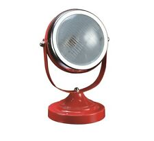 Adjustable Round Table Spot LED Light Lamp Desk Spotlight Decor with Red Finish