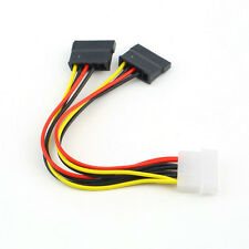 Hot 4 Pin IDE Male Molex to Dual SATA Y Splitter Female HDD Power Adapter Cable