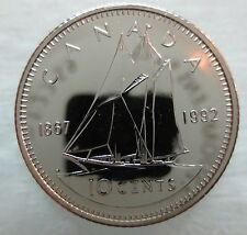 1867-1992 CANADA 10 CENTS 125th CONFEDERATION ANNIVERSARY PROOF-LIKE COIN