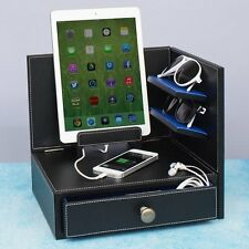 """City Pop"" Corner Multi-Device Charging and Sunglass Station Dock Valet Drawer"