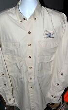 Sea Harbour Blue Ribbon Flies West Yellowstone MT Fishing Vented LS Shirt Men XL