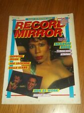 RECORD MIRROR JANUARY 22 1983 IRON MAIDEN DEPECHE MODE JOE JACKSON SHARON REDD