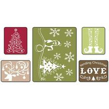 Sizzix Sending Christmas Love Set Embossing Folders 5 Pc Penquin Tree Folder