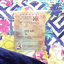 POETIC WANDERLUST Florabella KING QUILT & PILLOW 2pc Purple Pink Teal COTTON NWT