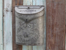 Vintage Style Zinc Mail Box Letter Box Post Box Antique Finish Wedding