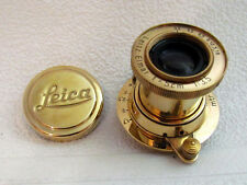 LEITZ ELMAR f3,5/5cm VINTAGE RUSSIAN GOLD LENS for 35mm CAMERAS LEICA FED ZORKI