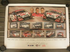 HRT HSV Mobil Celebrating 10 Years of Commodore BROCK SKAIFE KELLY Poster - NEW