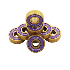 Dark Wolf Skateboard Bearings Titanium ABEC-11 Purple Gold 8pcs with 4pcs Spacer