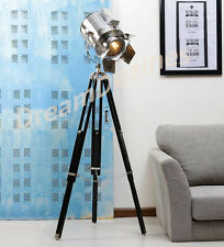 look di Design Vintage searchlight Faretto Telescopico Tripod Lampada da terra