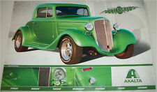 1935 Chevrolet Utility Coupe car print  (modified, green)