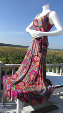 NEW XLARGE PYRAMID COLLECTION dress maxi faux wrap psychedelic side tie tropical